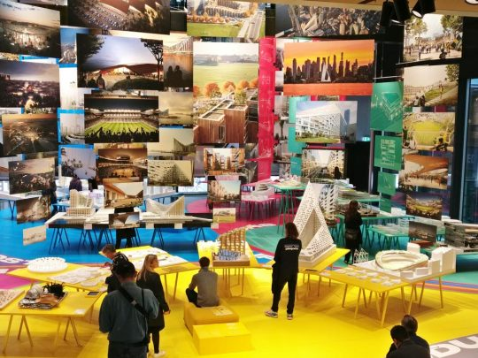 Overview of exhibition by BIG architects in BLOX Copenhagen, Danish Architecture Centre